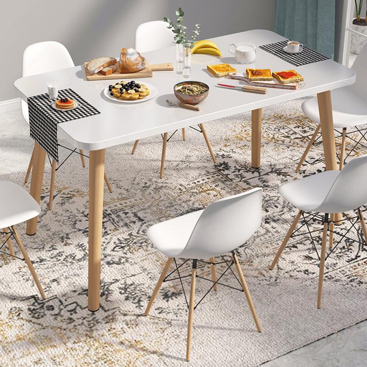 北欧餐桌小户型现代小桌子实木腿饭桌圆桌客厅家用餐桌椅组合(北欧餐桌小户型现代小桌子椅子实木)