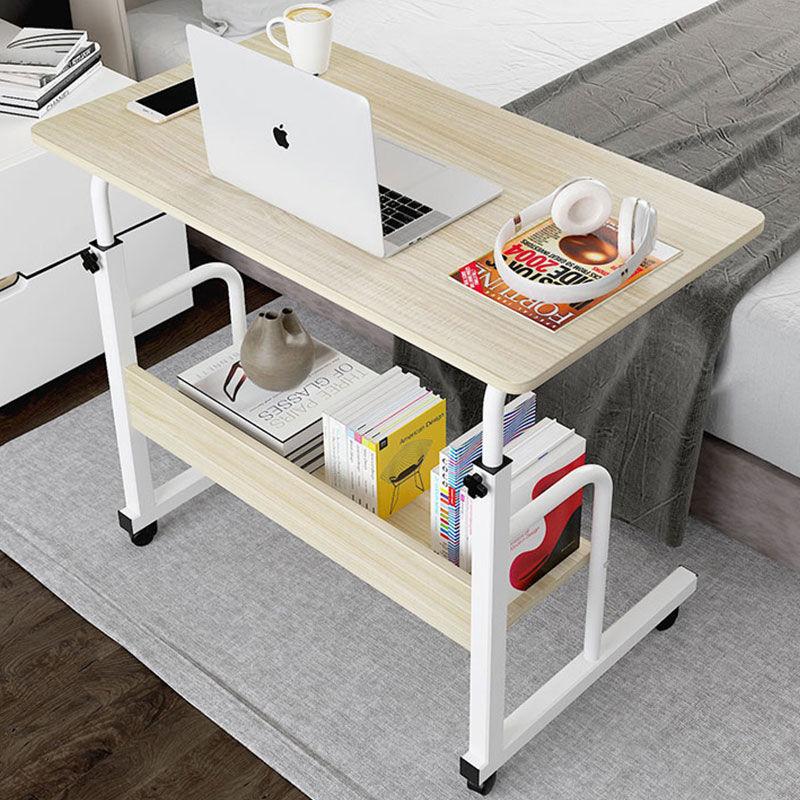 简易桌子宿舍笔记本电脑桌床上学习桌书桌可移动床边桌卧室(床上学习桌书桌可移动床边桌卧室)