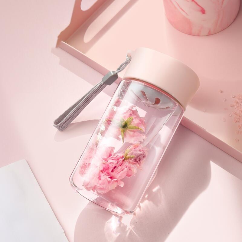 婴儿奶瓶级材质!便携提手【物生物】便携式茶水分离防摔杯安全防漏