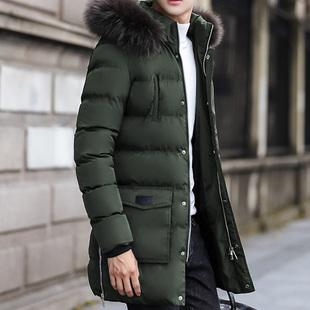 冬季男士棉衣毛领冬装外套保暖加厚棉袄