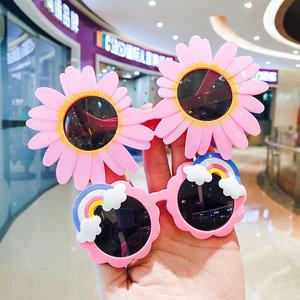 儿童可爱防晒太阳花眼镜