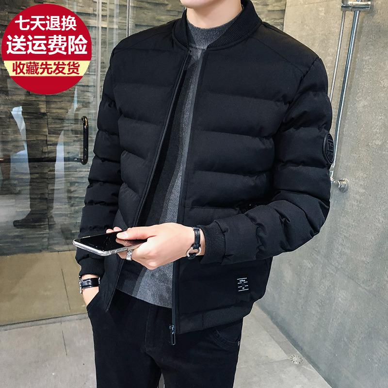 男士棉衣冬季棒球服棉袄男韩版潮流短款加厚羽绒棉服青年冬装外套