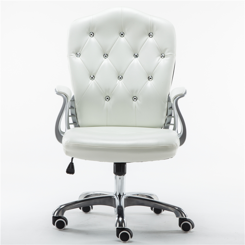 white swivel chair. European Computer Chair Home White Office Student Lift Swivel Boss Study Room Anchor Live Broadcast Seat R
