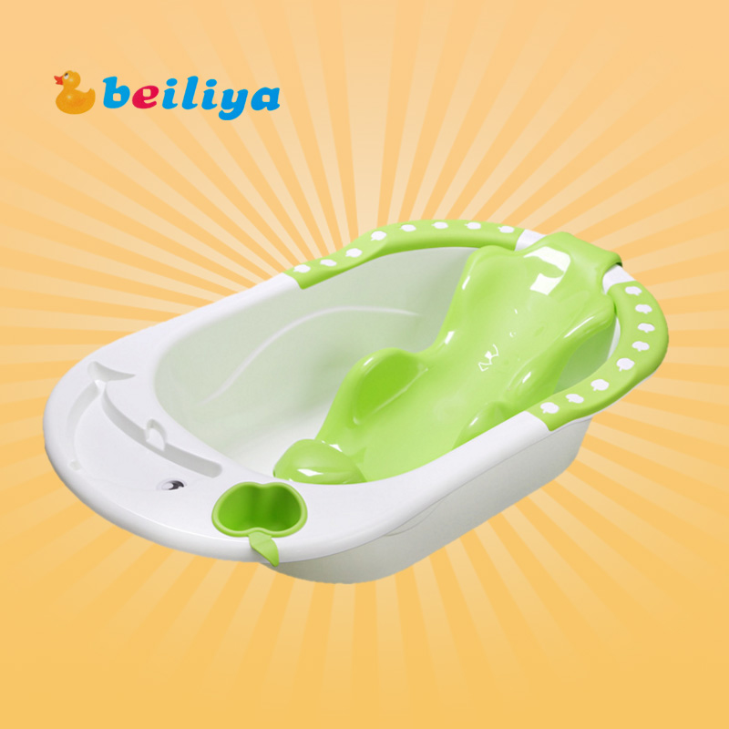 USD 31.89] Newborn baby bath tub baby bath tub large thick with Bath ...