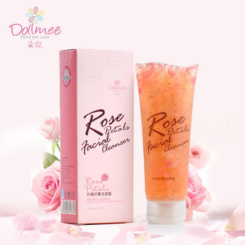 朵弥玫瑰花瓣洁面晶露乳洗面奶深层清洁毛孔温和低泡滋润补水保湿