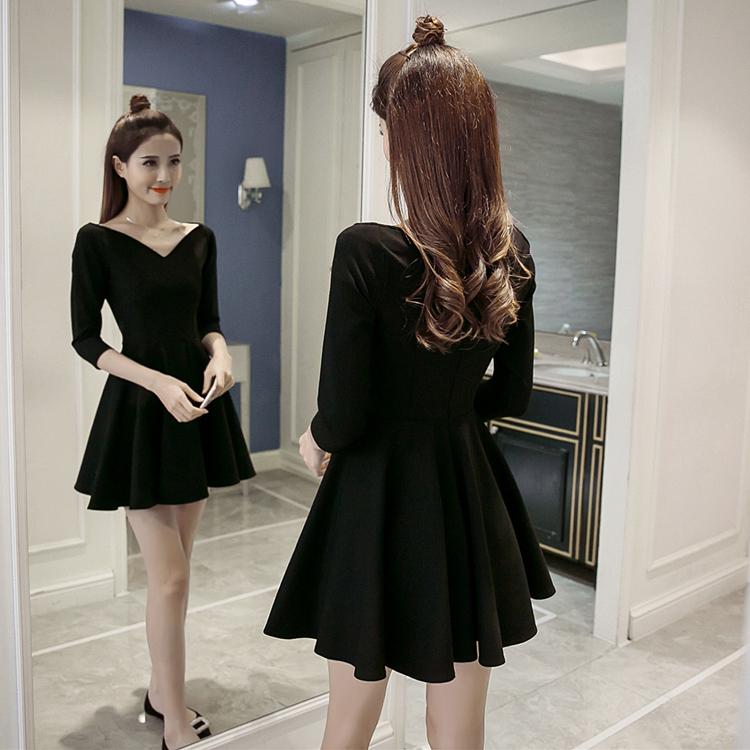 适合145cm娇小矮个子春秋裙子女装150加小码XS号显高礼服连衣裙群
