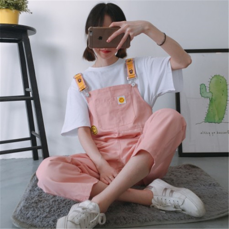Ins super fire student trousers female loose Korean version of the bf Harajuku style wide leg was thin nine pants cute casual