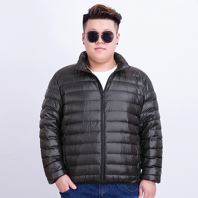 9cb10e79ee3d8 Lightweight down jacket male large size plus fertilizer to increase extra large  Fat Fat Man lightweight ultra-thin autumn ...