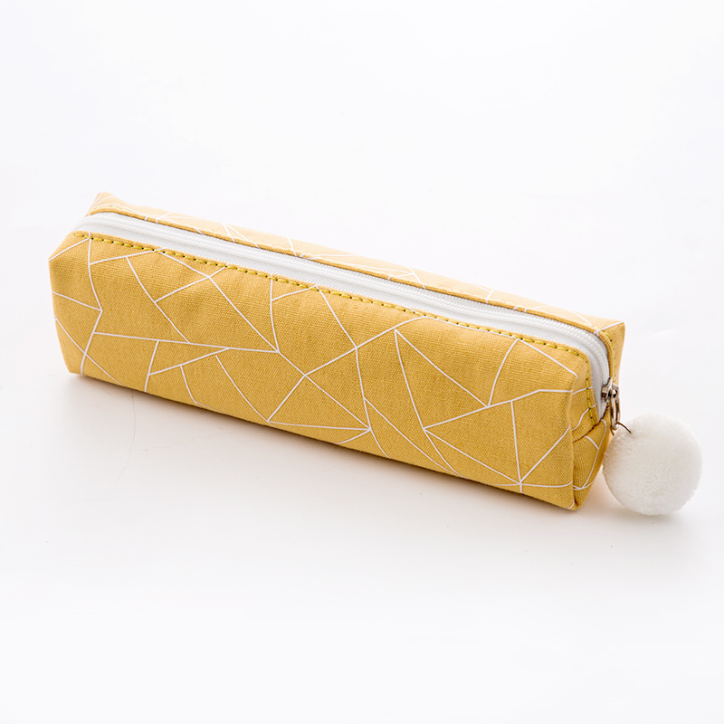 Square pencil case - yellow