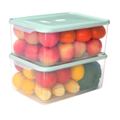 冰箱收纳盒抽屉式长方形大储物盒食物鸡蛋保鲜盒家用冷冻全密封盒