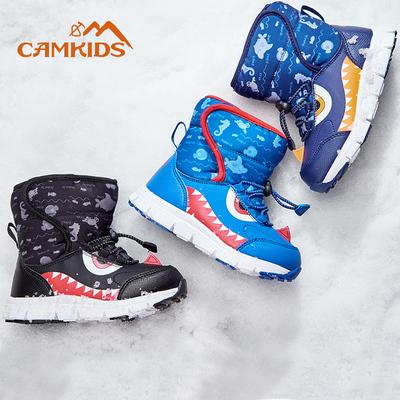 女童雪地靴2019年新款儿童防水防滑加绒加厚短筒可爱公主小童棉鞋