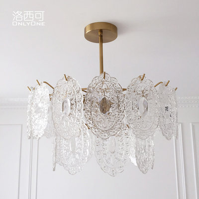 Los Cani American Vintage Chandelier French Court Style Italian Glass Light Luxury Living Room Restaurant Lighting