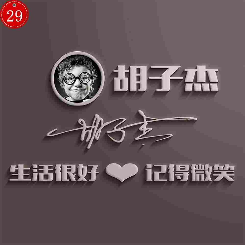 29头像PSD源文件素材模板微信QQ签名百家姓氏