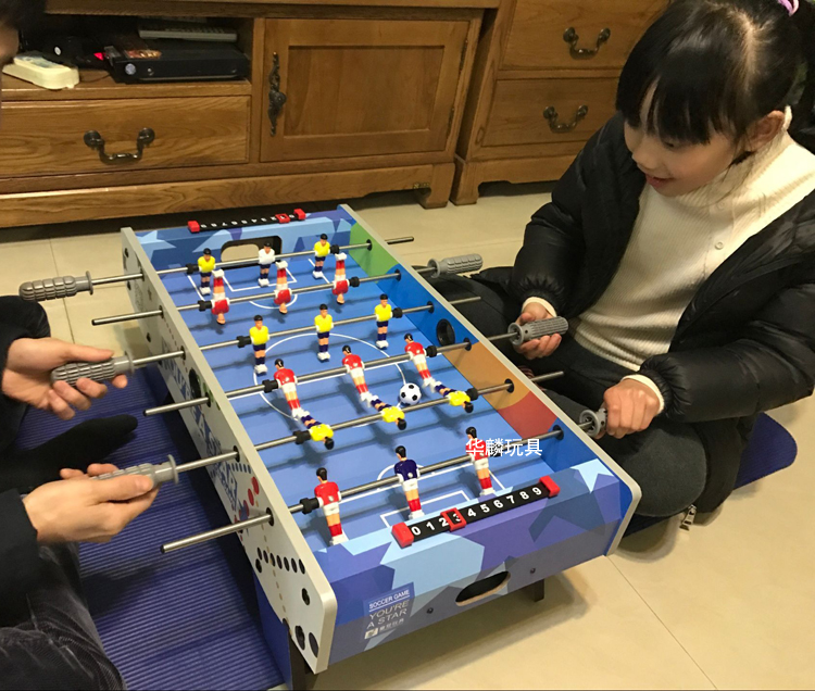 Table Football Crown Six Pole Parent Child Game 3 Year Old Male Birthday Gift 6 Educational Toys 8