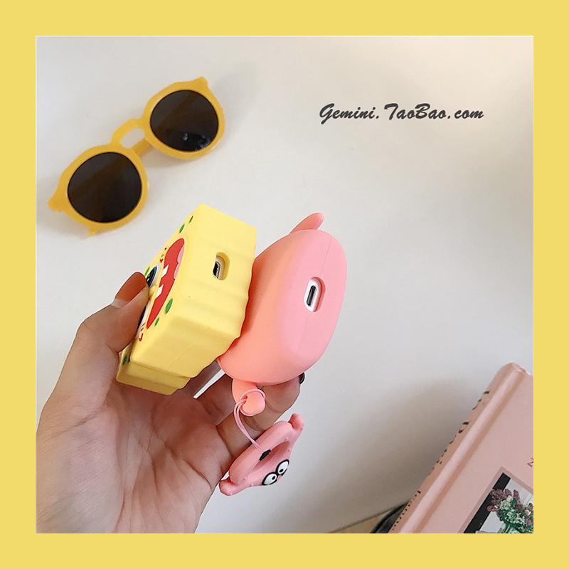 airpods保護套 可愛卡通蘋果耳機airpods保護殼無線藍牙套韓國硅膠一二代通用 耳機保護套 嘉義百貨