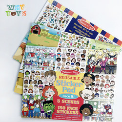 The original single children's static sticker book baby sticker book children brain stickers stickers can be used repeatedly for 2-3-5 years old