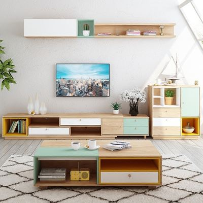 Affordable Jie Shi Wei Nordic Tea Table Tv Cabinet Combination Scalable Modern  Minimalist Small Apartment Furniture Combination Living Room Home With ...
