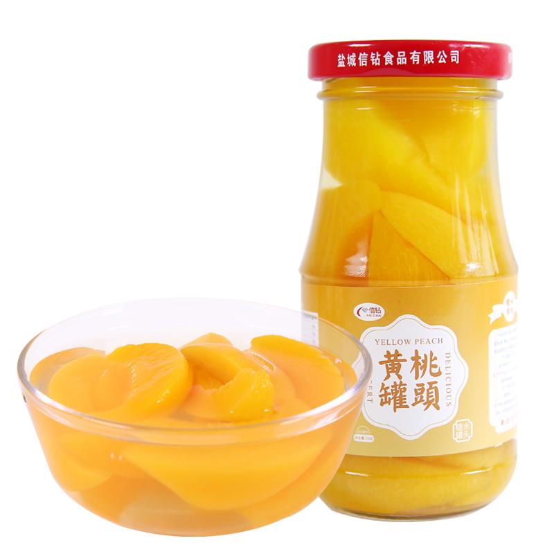 信钻 汤山黄桃糖水罐头 256g*6罐