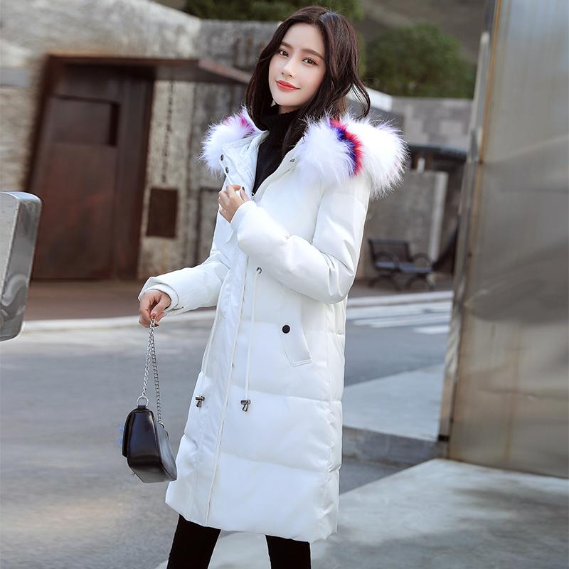 外套奢华棉袄棉服女中长款2019新款羽绒韩版收腰修身高端加厚棉衣