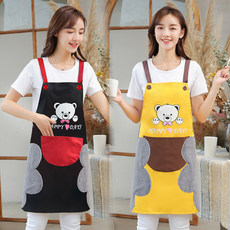 Hand wipe apron household kitchen waterproof oil proof fashion female Korean adult lovely adult smock work cooking