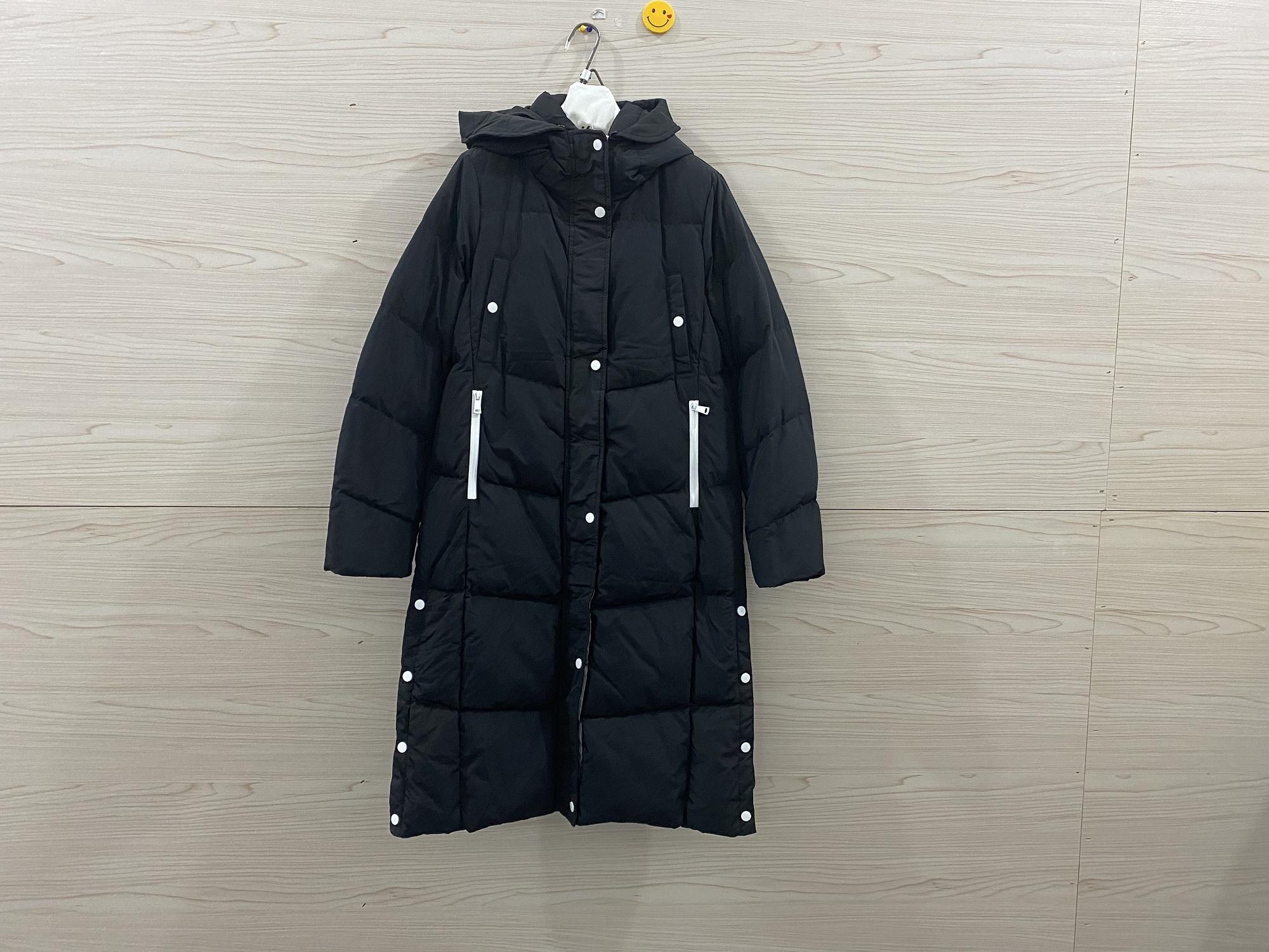 Áo khoác dạ nữ mùa đông thời trang dài đơn giản - Xuống áo khoác