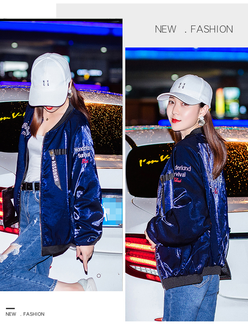Embroidered jacket women thicken 2020 new autumn and winter Korean version of loose short long-sleeved baseball uniform spring and autumn tide 60 Online shopping Bangladesh