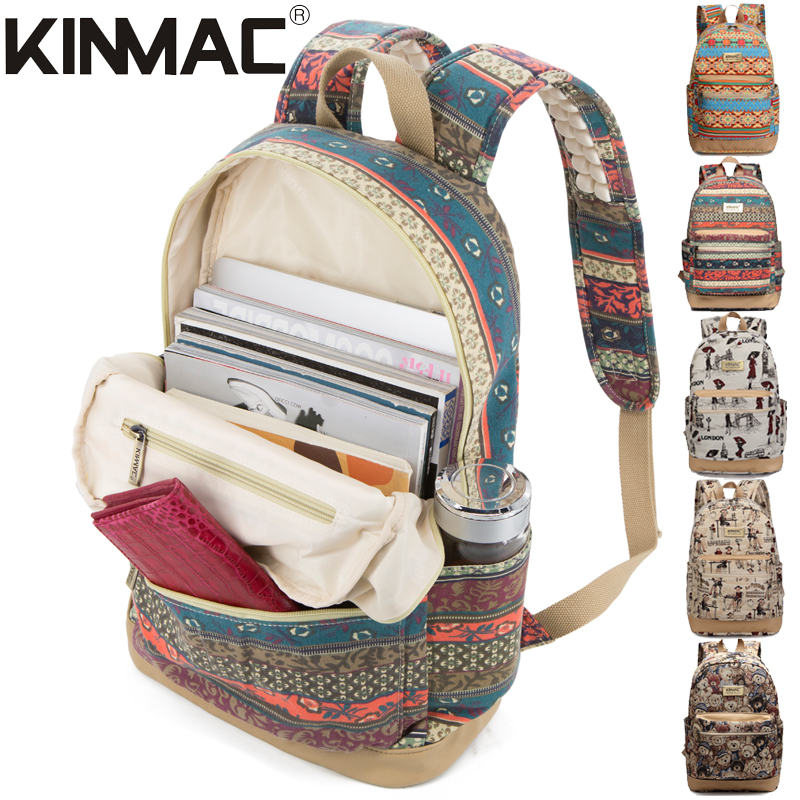 03be1ee7f6 Shoulder bag 15 inch female 2018 new European and American personality wild  fashion canvas student bag