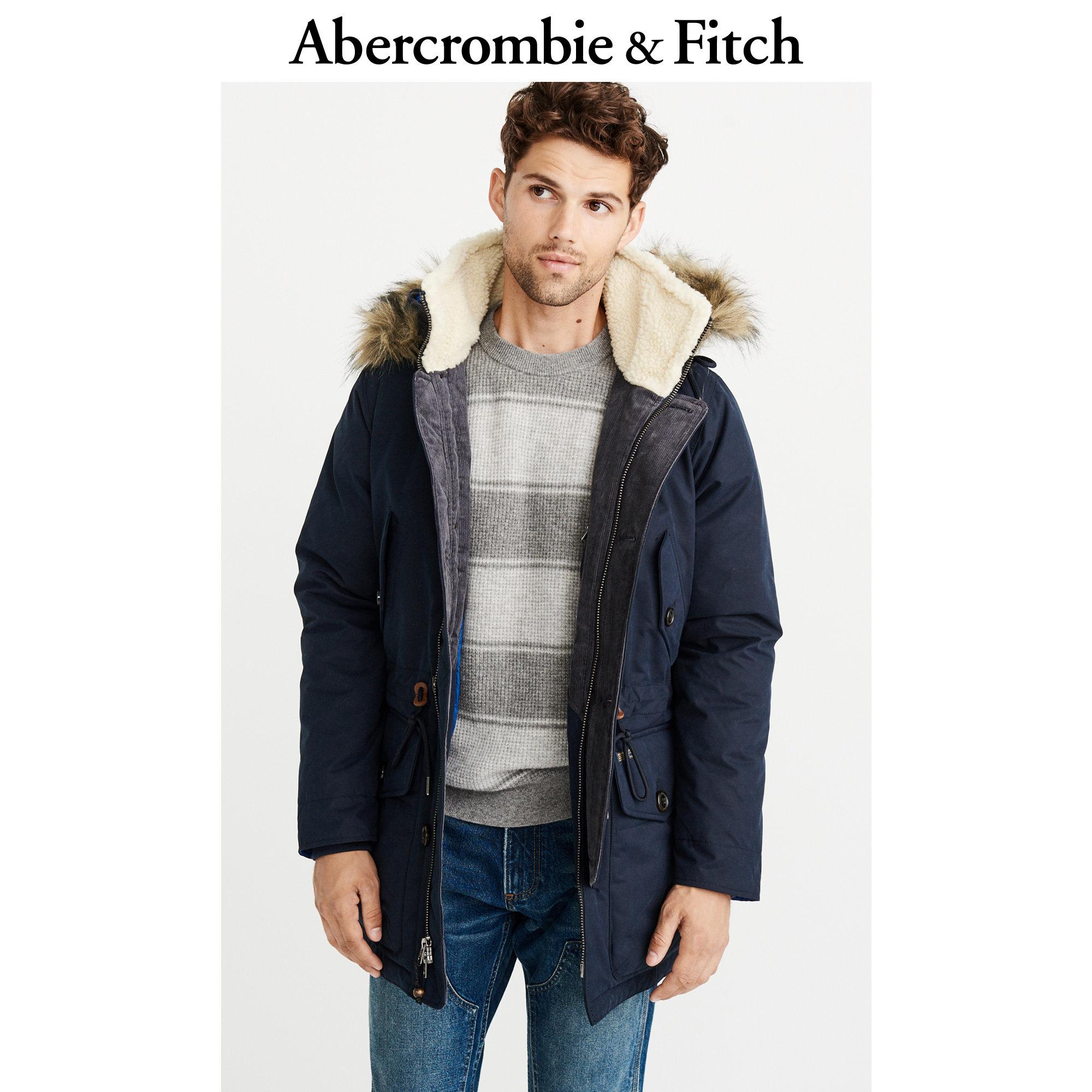 Abercrombie&Fitch男装 精品派克大衣 215016-1 AF