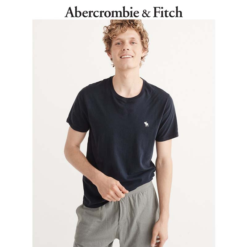 Abercrombie&Fitch Men's Logo Crew T-shirt 176706 AF