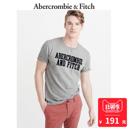 Abercrombie&Fitch 196145 AF 男士贴花T恤 191元