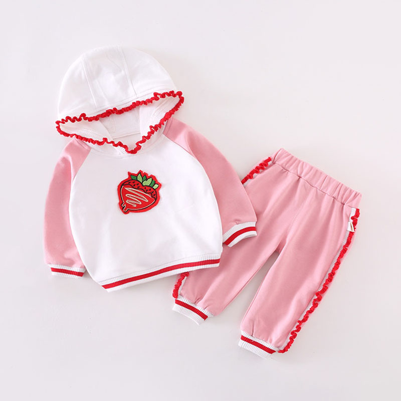 1-year-old baby yang spring dress 3 small girl sports suit spring and autumn clothes 2 baby guard clothes two-piece set 4