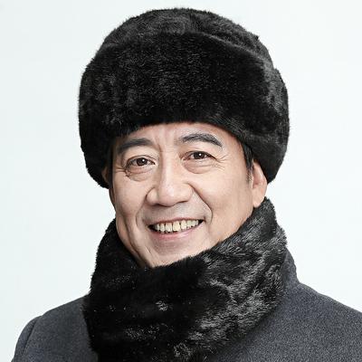 中老年人帽子男士雷锋帽冬天爸爸帽秋冬保暖爷爷老头老人帽女围巾