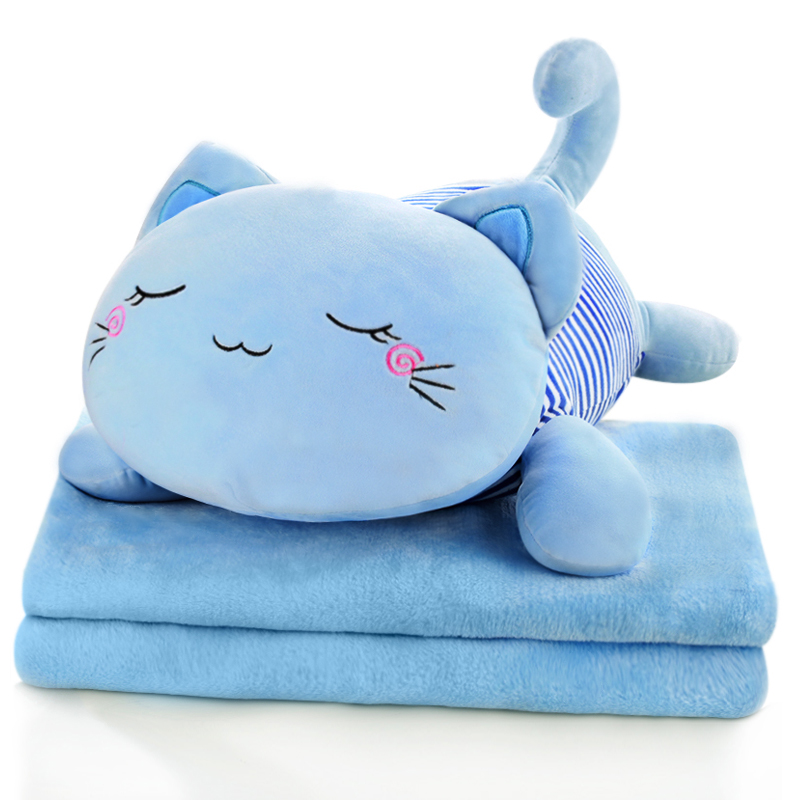Cat pillow quilt dual office nap pillow car pillow car pillow cushion air conditioning blankets are