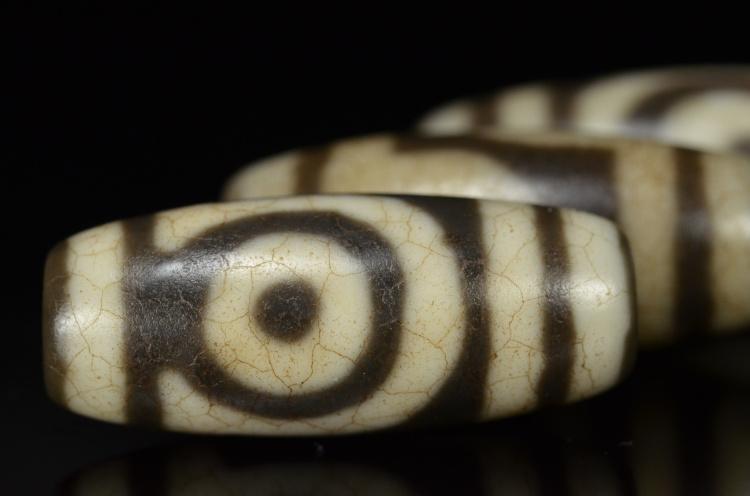 Ювелирные изделия и полуфабрикаты Тибет старый бисер второй глаз два глаз природный оригинальный камень агат девять глаз сланцевого верности освящения каменной строкой ручной ожерелье