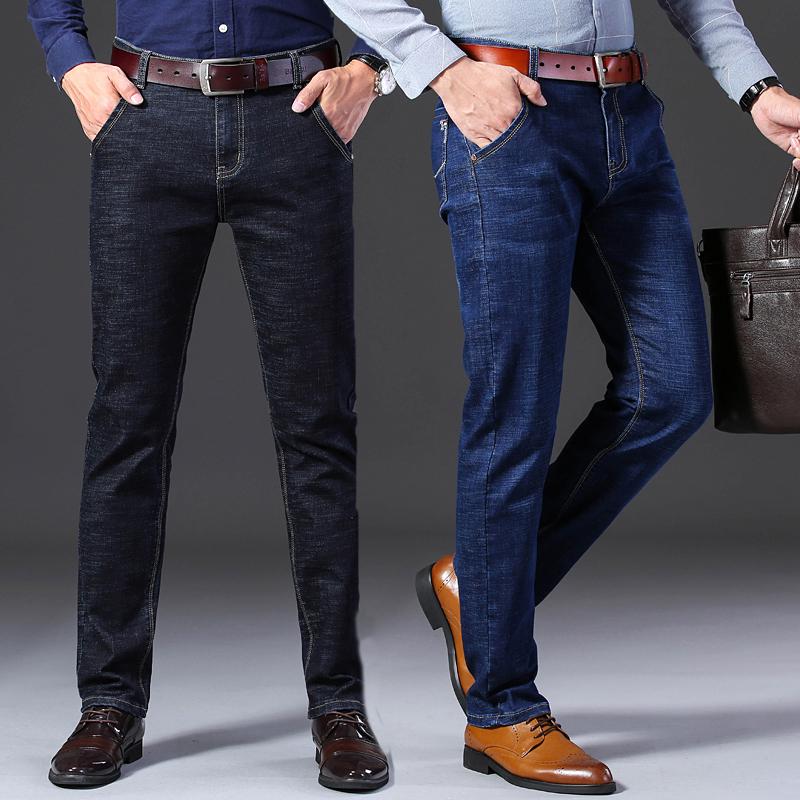 新款牛仔裤男休闲裤春秋男士弹力修身长裤子