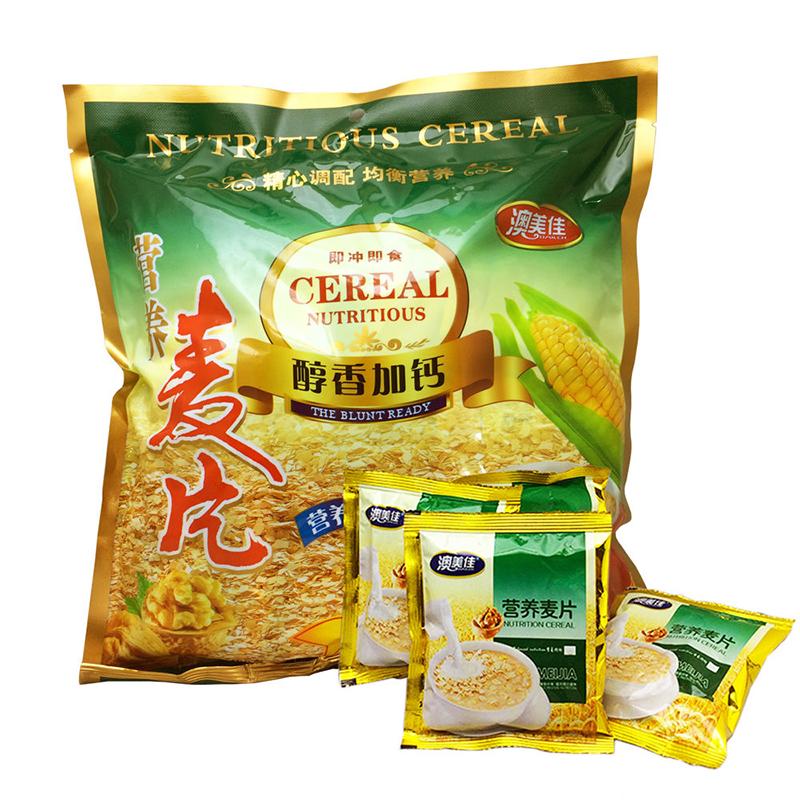 【亏本促销】麦片营养早餐燕麦免煮老人小孩点心零食480克一包