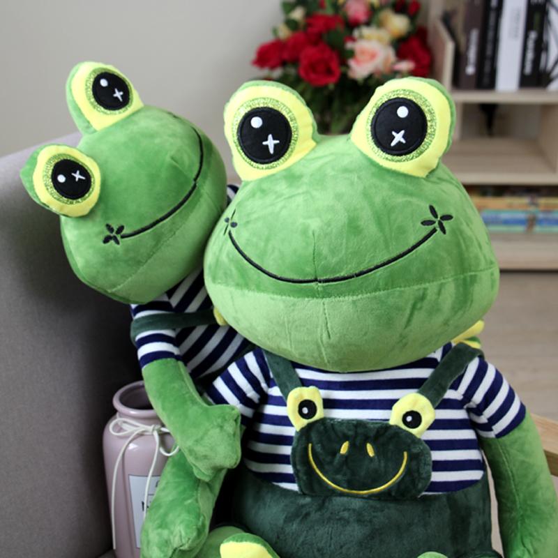 Ếch búp bê sang trọng đồ chơi hoàng tử búp bê rag búp bê trẻ em quà tặng kỳ nghỉ ếch con trai cô gái lớn - Đồ chơi mềm