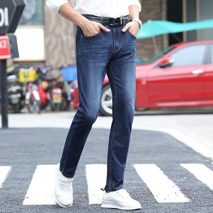 薄款牛仔裤男修身夏季裤子男韩版潮流直筒宽松弹力男士牛仔裤长裤