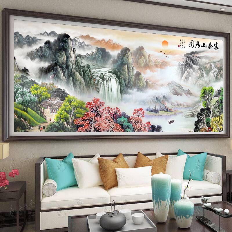 Các dòng 2019 phòng thêu khâu sống mới mạnh danh lam thắng cảnh có đầy đủ việc kiếm tiền chảy thêu núi Fuchun - Công cụ & phụ kiện Cross-stitch