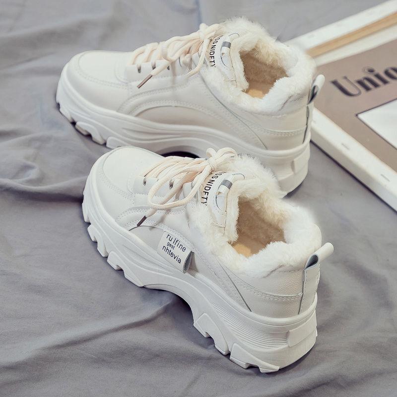 老爹鞋女2020秋冬新款加绒运动休闲鞋ins潮厚底百搭增高保暖棉鞋