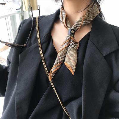 Small square scarf female Korean wild decoration literary scarf spring and autumn retro stewardess professional business small scarf