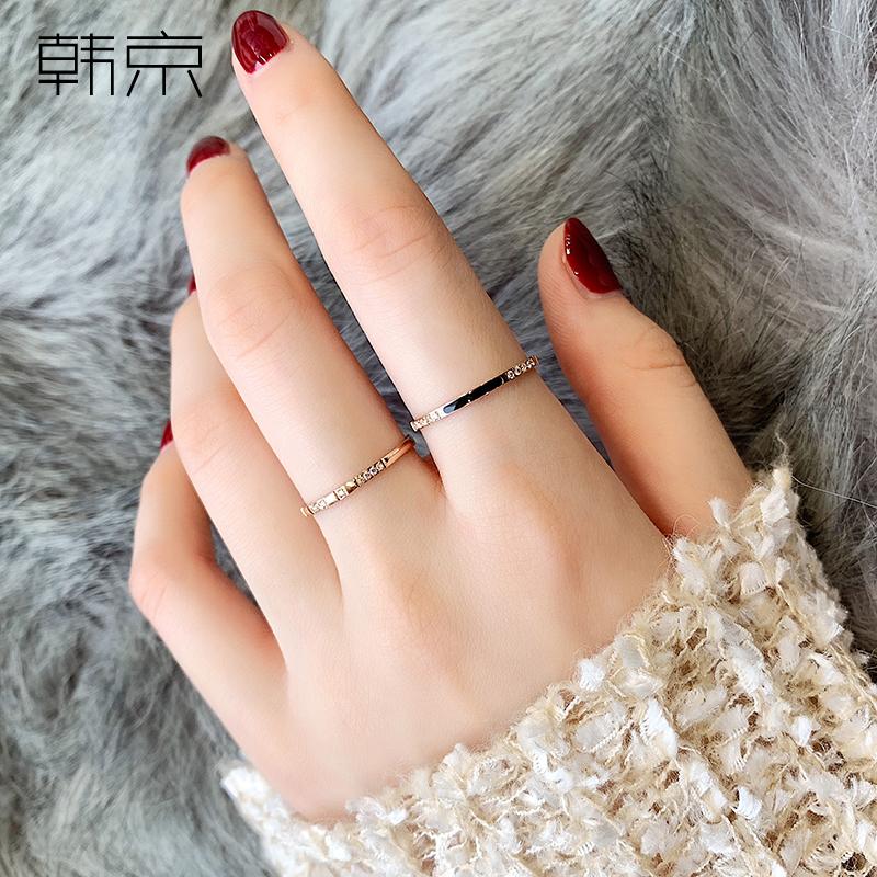 二合一组合指环冷淡风食指尾戒