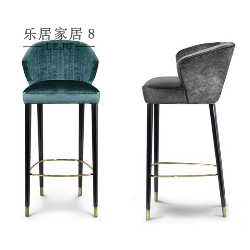European Style Bar Chair A Neo Clical Reception Simple And Stylish Solid Wood Stool Front Desk High Stools Retro