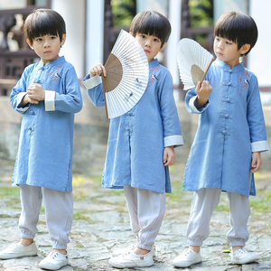 Boys Tang Suit for Kids Boy's Tang suit baby spring hanfu chinese style children's clothing children's Chinese retro costume children's national style clothing