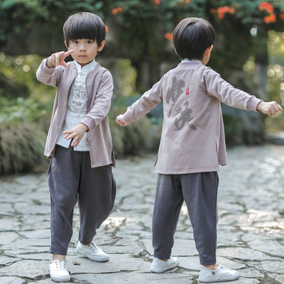 Children's Hanfu boy, baby, Chinese national costume, children's ancient costume, children's clothing.