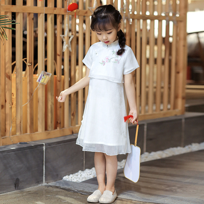 Girls' Hanfu, children's dress, baby's costume, children's Retro national costume.