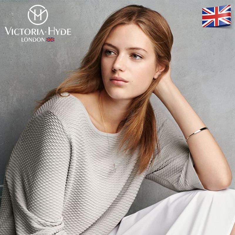 Victoria hyde手镯女极简风情侣礼物ins小众设计开口镯手饰品男女