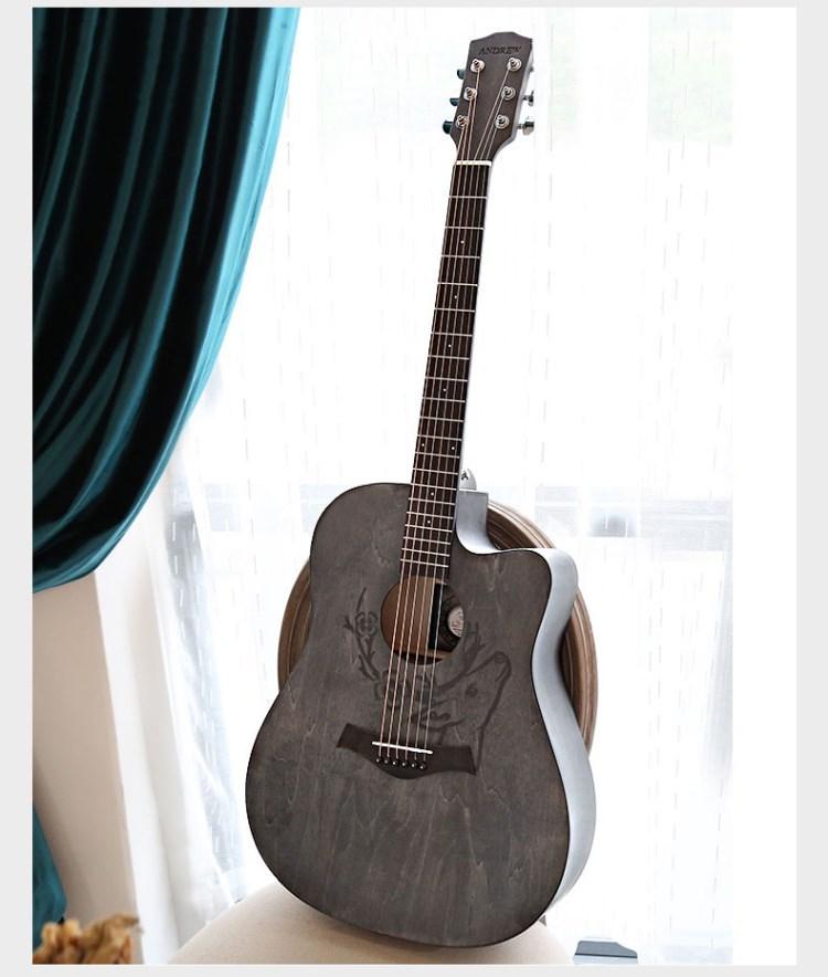 Guitar dân gian Người mới bắt đầu Học sinh Nữ Nam Novice Bắt đầu Thực hành Acoustic Guitar Guitar Nhạc cụ Veneer Bắt đầu 41 Inch - Nhạc cụ phương Tây