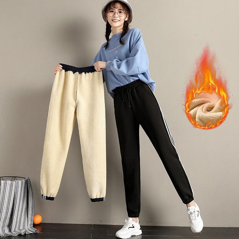 600g超厚绒冬季羊羔绒运动裤