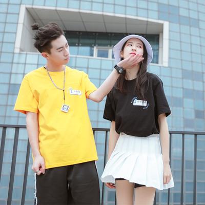 丝叔潮社 PCMY 春夏新品俄罗斯方块短袖T恤男女情侣潮牌打底衫